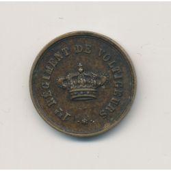 Jeton de cercle - 1er Régiment de voltigeurs - bronze - 17mm - TTB+