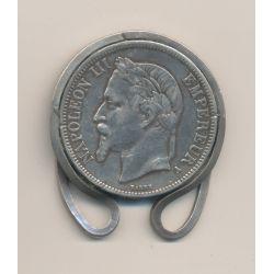 5 Franc Napoléon III - Transformé en porte billet - 1867 A Paris - argent - TTB
