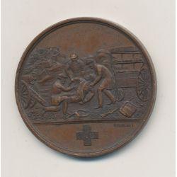 Médaille - Annexes ministère de la guerre - 1870-1871 - bronze - 37mm - TTB+
