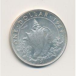 Bahamas - 1 Dollar - 1969 - argent - SUP