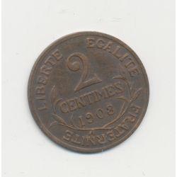 2 centimes Dupuis - 1908 - TTB+