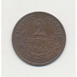 2 centimes Dupuis - 1914 - SUP