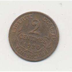 2 centimes Dupuis - 1920 - TTB+
