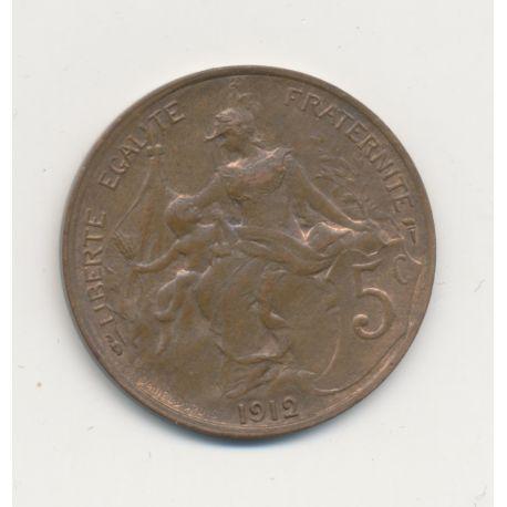 5 Centimes Dupuis - 1912 - SUP - bronze