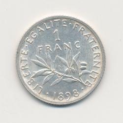 1 Franc Semeuse - 1898 - argent - TTB+