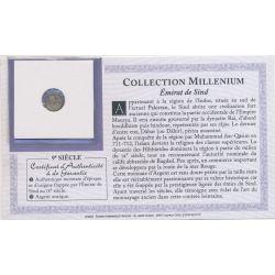 Collection Millenium - Monnaie Émirat de Sind - 9e siècle - argent - TB