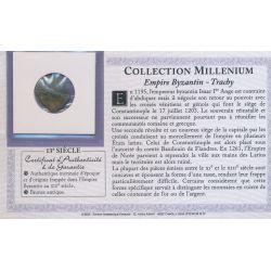 Collection Millenium - Monnaie Empire Byzantin - Trachy - 13e siècle - bronze - TB