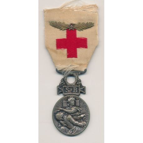 Médaille - Croix rouge - 1864-66 - Secours aux bléssés - ordonnance