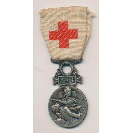 Médaille - Croix rouge - 1864-66 - Secours aux bléssés - gravée - ordonnance
