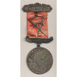 Médaille Maçonnique - Loge Strafford - agarafe C.H.P avec 2 épées - Missouri - Etats-Unis