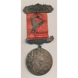 Médaille Maçonnique - Loge Strafford - agrafe C.H.P avec 2 plumes - Missouri - Etats-Unis