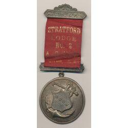 Médaille Maçonnique - Loge Strafford - agrafe C.H et P  - Missouri - Etats-Unis