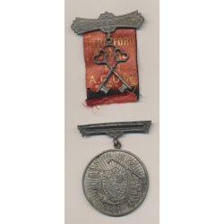 Médaille Maçonnique - Loge Strafford - agrafe C.H.P avec 2 clés  - ruban déchiré - Missouri - Etats-Unis