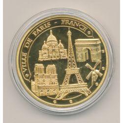 Dept75 - Ville de Paris - 5 monuments - 40mm - colorisé