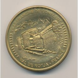 Médaille - Villefranche de gonflent - Val de rotja - collection européenne