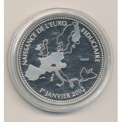 Essai - Naissance de l'euro fiduciaire - 1er janvier 2002 - cupronickel - 41mm