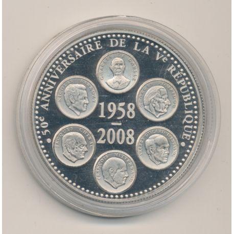 Médaille - 6 Présidents de la République - 1958-2008