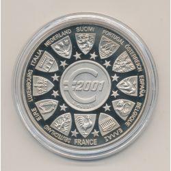 Essai - 12 Pays Européen - 2001 - cupronickel - 41mm