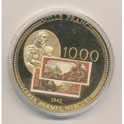 Médaille - 1000 Francs Mercure - En mémoire d'une monnaie