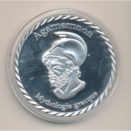 Médaille - Agamemnon - Roi légendaire de Mycènes et d'argot - Mythologie Grecque - nickel - 50mm
