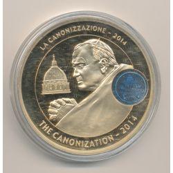 Médaille - Canonisation Jean Paul II - 2014 - bronze - 50mm