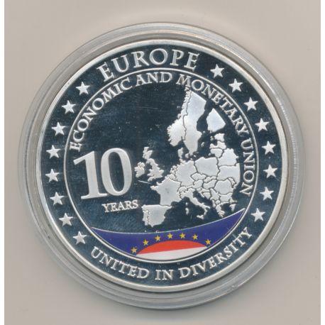 Médaille - 10 ans Union européenne - Monaco - cupronickel - 49mm