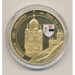 Médaille - Dept59 - Beffroi de bergues - 40mm - colorisé