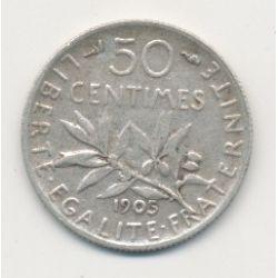 50 Centimes Semeuse - 1905