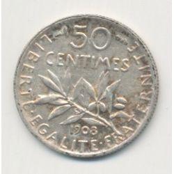 50 Centimes Semeuse - 1908