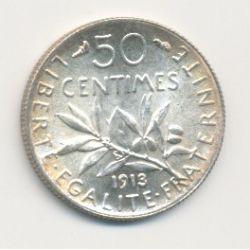 50 Centimes Semeuse - 1913
