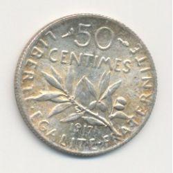50 Centimes Semeuse - 1917