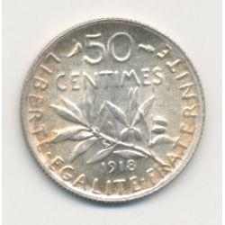 50 Centimes Semeuse - 1918