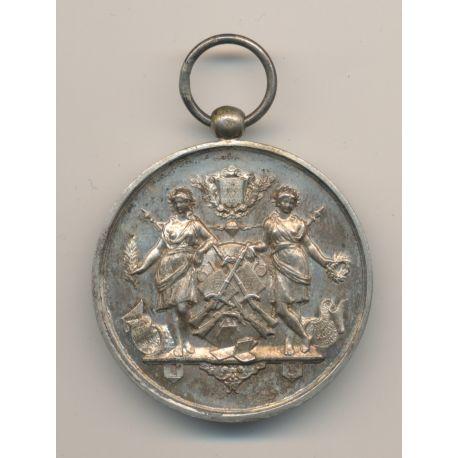 Médaille - Société de gymnastique et instruction militaire - Gironde - gravé Champion 1895 - 37mm - bronze - TTB+