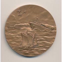 Médaille-  FAMMAC - Fédération des associations des marins anciens combattants - bronze - 58mm - SUP