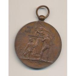Médaille - pour la patrie - tir et arquebuse - cuivre - 47mm - TTB+