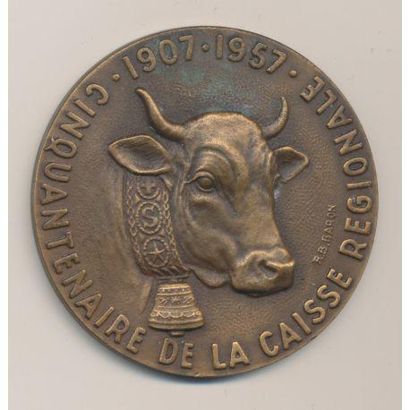 Médaille - Crédit agricole de la Savoie - 1907-1957 - bronze - 59mm