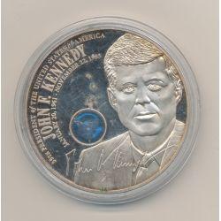 Médaille - John Fitzgerald Kennedy - 33e Président - argent 53g - 50mm - SUP