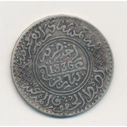Maroc - 5 Dirhams - 1336/1927 Paris - argent - TTB