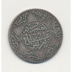 Maroc - 2 1/2 Dirham - 1321/1904 Berlin - argent - TTB