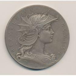 Médaille - Concours de Tir - bronze argenté - Henri Dubois - 51mm - TTB+