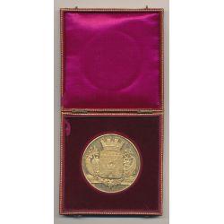 Médaille - Blason de la ville de Bordeaux - vermeil - SUP - avec écrin - 51mm
