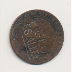 5 centimes - Napoléon III - regardé - Pigeo es allée