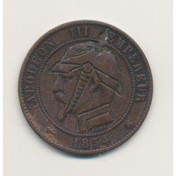 Monnaie satirique - 10 centimes 1854 B - regravé Casque à pointe - Napoléon III