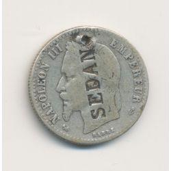 Monnaie satirique - 50 centimes Napoléon III - gravé SEDAN - B/TB