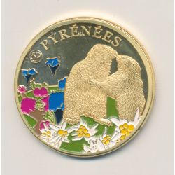 Médaille - Pyrénées - marmottes - cirque de gavanie - 34mm