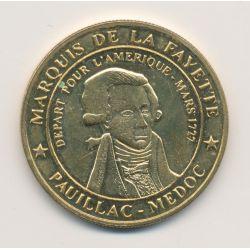 Dept33 - Marquis de Lafayette - 2009 - Pauillac - Médailles et Patrimoine