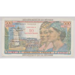 Billet - 10NF/500 Francs Reunion - 1971 - TTB+