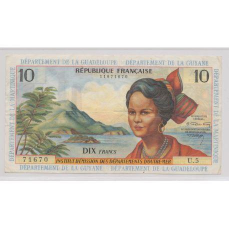 Billet - 10 Francs Antilles 1964 - TTB