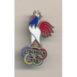 Badge - Jeux Olympiques 1956 - numéroté 4751