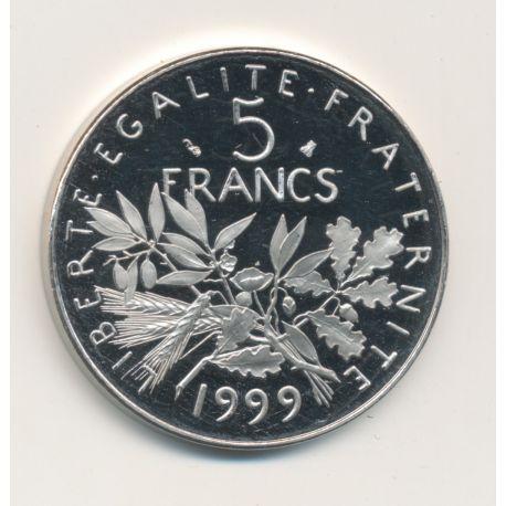 5 Francs Semeuse - 1999 - Belle épreuve